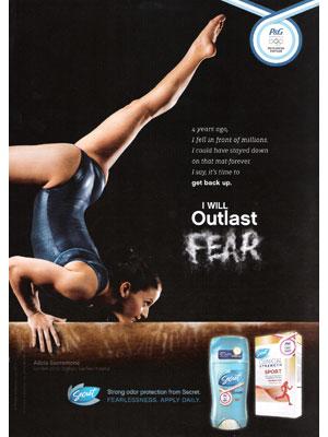 Secret Deodorant Ad