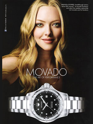 Amanda Seyfried for Movado