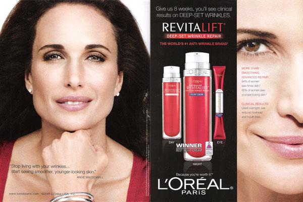 Andie MacDowell cosmetics