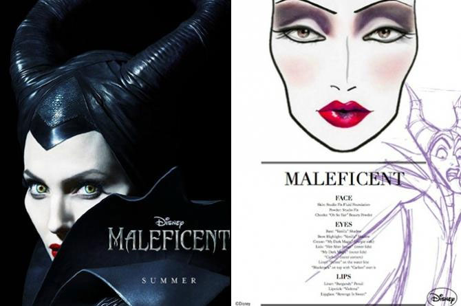Angelina Jolie MAC Disney Maleficent makeup