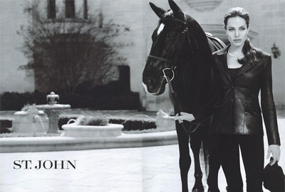 Angelina Jolie in ad for St. John fashion's Spring/ Summer collection