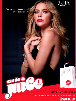 Ashley Benson Eau de Juice Perfume Ad