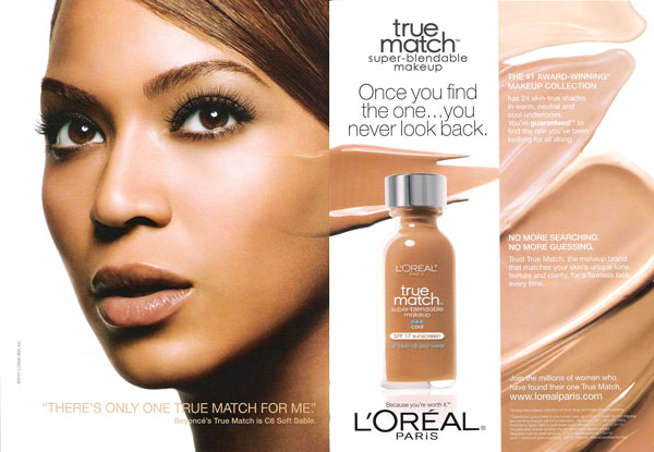 Beyonce Knowles for Loreal