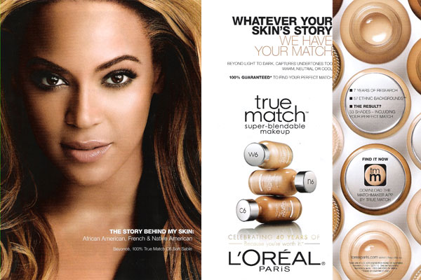 Beyonce Loreal celebrity endorsement ads