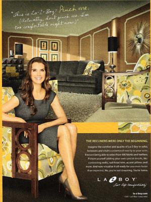 Brooke Shields For La Z Boy Furniture