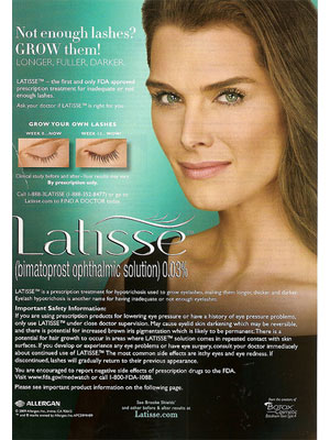Brooke Shields for Latisse