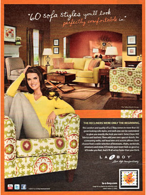 Brooke Shields for La-z-boy Furniture