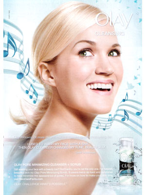 Carrie Underwood Olay celebrity endorsements