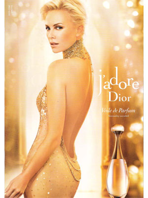 Charlize Theron Dior J'adore celebrity endorsement ads
