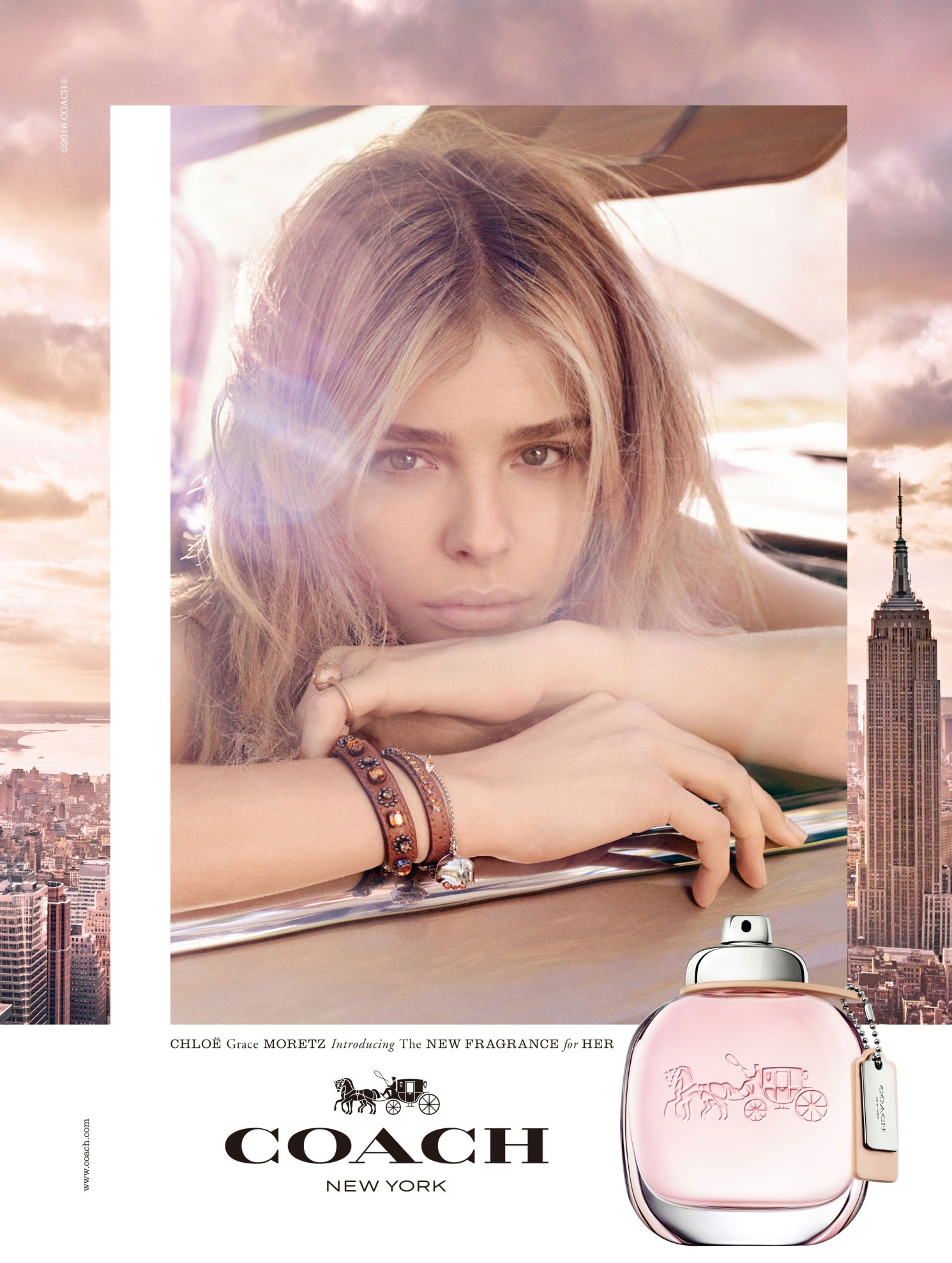 Coach FallWinter Campaign featuring Chloe Grace