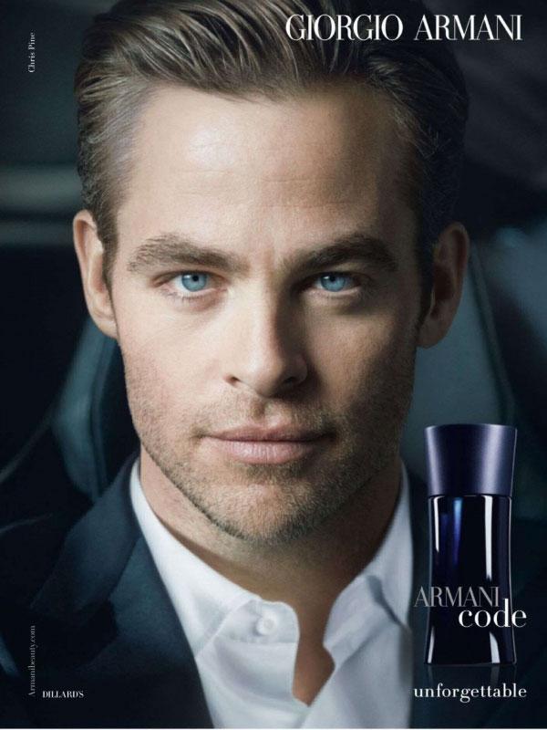 Chris Pine Actor - Celebrity Endorsements, Celebrity ... Giorgio Armani Cologne