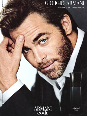 Chris Pine Armani Fragrance Ad