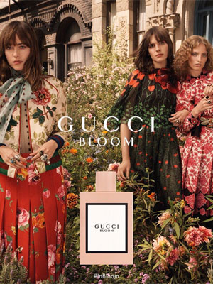 Dakota Johnson Gucci Bloom fragrance ads