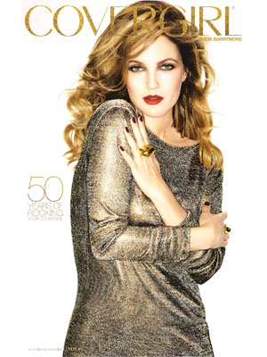 Drew Barrymore CoverGirl makeup beauty celebrity endorsements