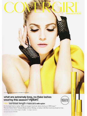 Mascara  on Drew Barrymore For Covergirl   Celebrity Endorsements  Celebrity