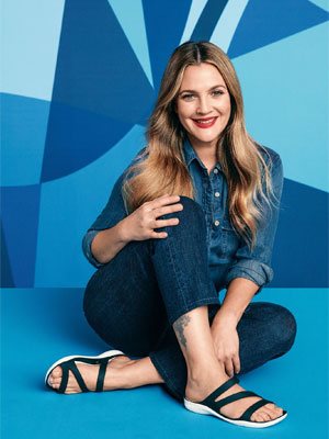 Drew Barrymore Crocs Celebrity Endorsement Ads