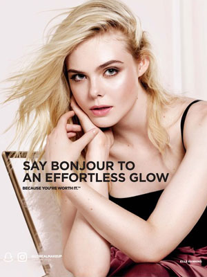 Elle Fanning Celebrity Beauty Ads
