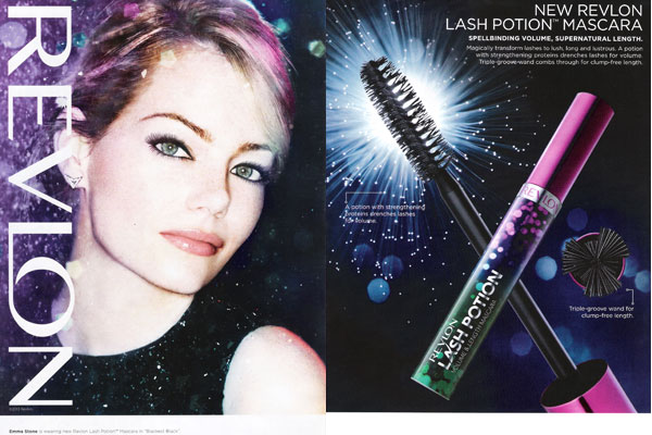 Emma Stone Revlon makeup celebrity endorsement ads
