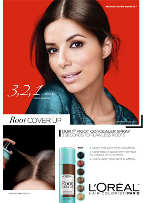 Eva Longoria L'Oreal Beauty Ads
