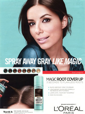 Eva Longoria L'Oreal hair care