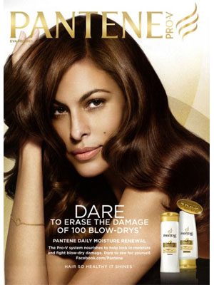 Look at how sultry and bold Eva Mendes is, thanks to her shampoo. 