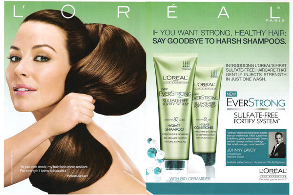Hair advertisements