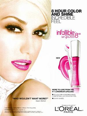 Gwen Stefani LOreal Infallible Celebrity Endorsements