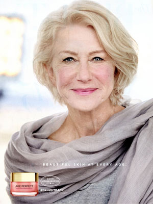 Helen Mirren L'Oreal Celebrity Endorsement Ads
