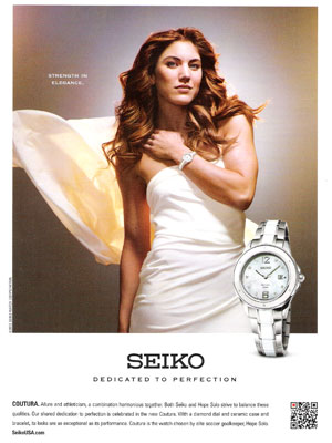 December 2012 fashion magazine celebrity endorsement advertisements celebrity endorsed products for Celebrity seiko watch