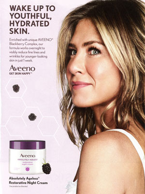Jennifer Aniston Aveeno Absolutely Ageless Restorative Night Cream