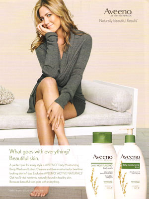Jennifer Anistion for Aveeno