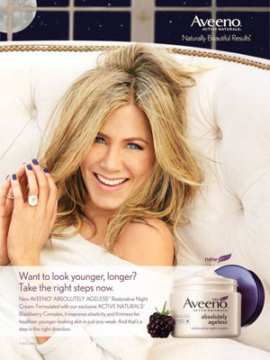 Jennifer Aniston Aveeno Advertisements