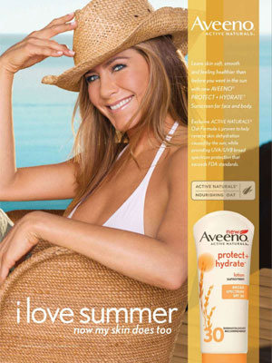 Jennifer Aniston Aveeno celebrity endorsement advertising