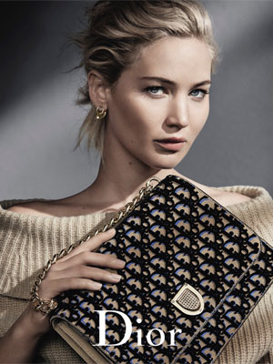 Jennifer Lawrence Dior Celebrity Ads
