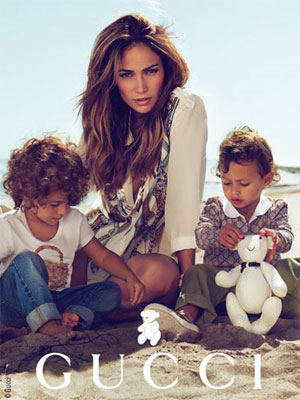 jennifer lopez kids gucci ad. Jennifer Lopez and Kids Gucci