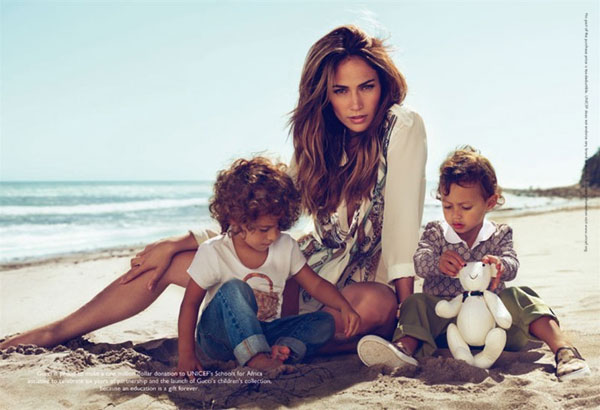 jennifer lopez kids gucci ad. Jennifer Lopez and kids for