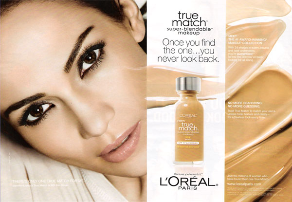 Jennifer lopez singer actress celebrity endorsements celebrity jennifer lopez loreal true match makeup celebrity endorsements altavistaventures Choice Image