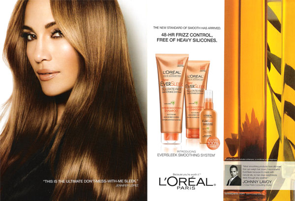 Jennifer lopez singer actress celebrity endorsements celebrity jennifer lopez for loreal eversleek altavistaventures Choice Image