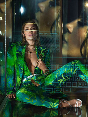 Jennifer Lopez Versace 2020 fashion ads