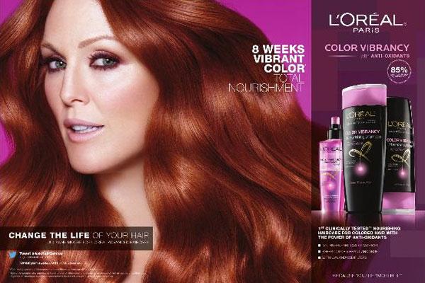 Julianne Moore L Oreal Hair Color