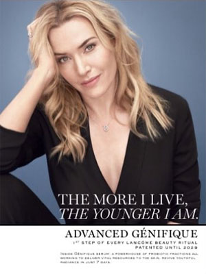 Kate Winslet Lancome Advanced Genifique Ads