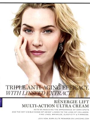Kate Winslet Lancome Renergie Lift Ultra Cream