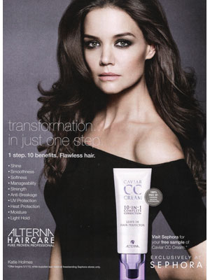 Katie Holmes Alterna celebrity endorsement ads
