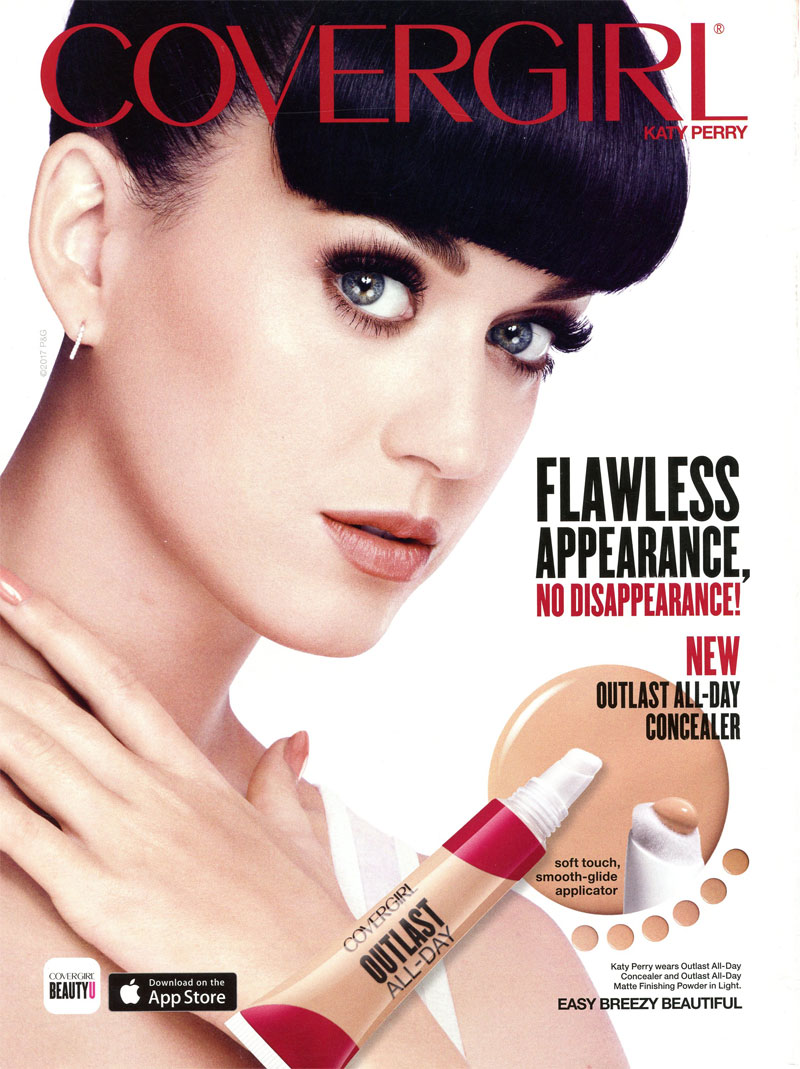 katy perry singer covergirl celebrity endorsements celebrity advertisements celebrity. Black Bedroom Furniture Sets. Home Design Ideas