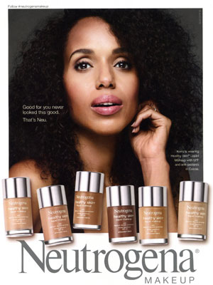 Kerry Washington Neutrogena Makeup Ad