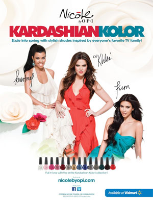 Kim Kardashian Kolor OPI celebrity endorsement ads