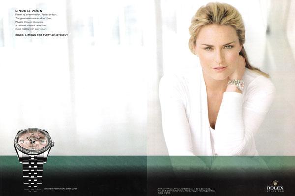 Lindsey Vonn Rolex