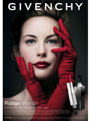 liv tyler makeup. Liv Tyler for Givenchy