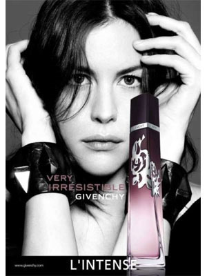 Liv Tyler Very Irresistible L'Intense Givenchy fragrance celebrity endorsements