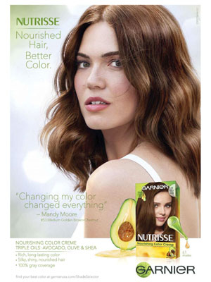 Mandy Moore Celebrity Hair Ads